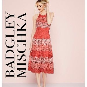 NWT Badgley Mischka Lace Dress